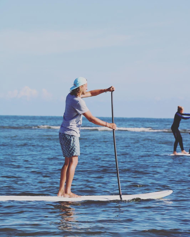 Stand Up Paddling im Glattwasser am Oststrand