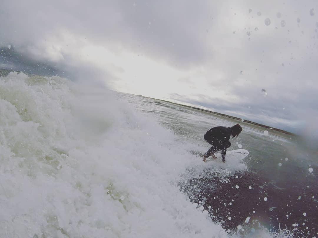 Wellenreiten am Oststrand